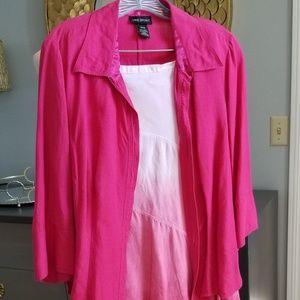 Lane Bryant linen skirt and blouse set